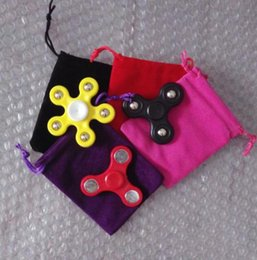 Wholesale Buggy Pouch - 2017 New Velvet Fidget Spinner Drawstrings Buggy Bag Packaging Bags Jewelry Pouches Necklace Bracelet Earring Gift Bags Fast Shipping
