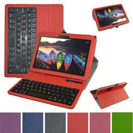teclado, negócio Desconto Atacado - para Lenovo Tab3 10 Business Case, tampa da caixa de couro teclado Bluetooth removível para Lenovo Tab3 10 Business 10.1 polegadas