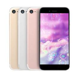 Wholesale 3g Single Sim Phone - Goophone 4.7 inch i7 smartphone MTK6582 Quad Core 1GB 4GB Show 128G 4g lte WIFI GPS 3G phone