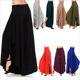 Wholesale Leg Loose Pants Long Trousers - Dance Fitness Pants Wide Leg Pant Women Casual Flare Pants Palazzo Capris Fashion Harem Pants Lady Trousers Slacks Loose Long Bloomers B3193