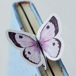 marcadores de papel mariposa Rebajas 60 unids / lote Butterfly Paper Marcador Lindo Escuela Estudiante Oficina Regalo de Navidad Premio Premio Papelería Libro Marca Papel Nota Material Escolar