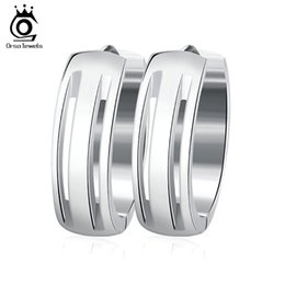 Wholesale men fashion jewel - ORSA JEWELS Simple Small Hoop Earrings Fashion Stainless Steel Jewelry for Men Women Birthday's Gift Choose GTE10