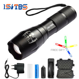 Wholesale Xm T6 - Ultra Bright CREE XM-L T6 L2 LED Flashlight 5 Modes 3800 Lumens Zoomable Outdoor lighting LED Torches 18650 Battery + Charger