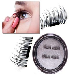 Wholesale Natural Look Eyelashes - magnetic eyelashes -Angel Kiss 1 Pair 4 Pieces Ultra-thin 0.2mm Fake Mink Eyelashes for Natural Look, Reusable Best Fake Lashes