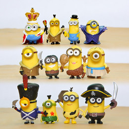 Wholesale Despicable Toys Pvc - Minion Action figure Toy Despicable ME Movie Deru Geru Unicorn Cute Lovely 12PC Lot PVC ACGN figure Brinquedos Anime 8 CM Shipping DHL Fast