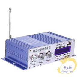 Wholesale Audio For Motorcycles - Hi-Fi HY502 Audio power amplifier USB MP3 DVD CD FM SD Digital Player for Motorcycle Auto Stereo Power Amplifier With power adapter