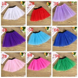 Wholesale Toddler Dance Dresses - kids Ballet Tutu Dress Up Dance Wear Costume Party Girls Toddler Kids Skirt Candy color ballet Cake skirt 14 color KKA2021