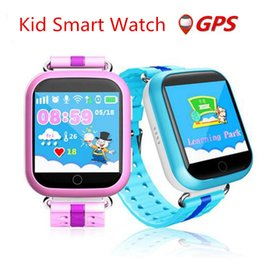Wholesale Android Agps - New GPS kid smart watch Q750 baby watch Wifi touch screen SOS Call Location Tracker for Children safe pedometer BDS LBS AGPS
