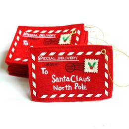 grandi sacchetti di santa all'ingrosso Sconti Christmas Tree Busta Greeting Cards Candy Gift Bag Decoration Regali di Natale perfetti per gli amici Rifornimenti di Natale