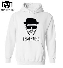 Wholesale Breaking Bad Hoodies - Wholesale- Top quality Breaking bad print men sweatshirt with hat 2016 heisenberg print cotton blend men hoodies