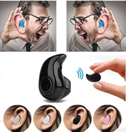 Wholesale Phone Earpieces - Bluetooth Earphone Mini Wireless In Ear Earpiece Cordless Hands Free Headphone Blutooth Stereo Auriculares Earbuds Headset Phone