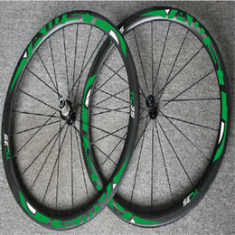 Wholesale Wheelset Clincher China - AWST TC 35 38mm carbon bicycle wheels powerway R36 hub clincher tubular road cycling bike wheelset basalt braking surface china bike wheels