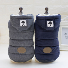 Wholesale Padded Shirt Small - Pets Moustache Cotton-padded Clothes Gogo Clothes Poodle Autumn And Winter Dress Two Leg Clothing Vest Vest Book