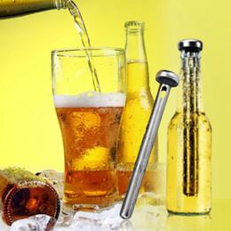Neue 2 teile / satz Bierkühler Stick Edelstahl Wein kühlstock Eis Getränke Wein Kaltgetränkekühler Für Freies DHL BJ002 von Fabrikanten