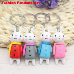 Wholesale Metoo Phone - Cute cartoon 5CM Metoo Rabbit Plush Stuffed TOY DOLL Keychain bag Pendant TOY phone ornaments free shipping