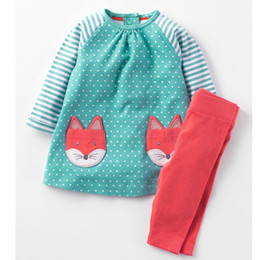 Wholesale American Girl School - Baby Girls Cotton Clothes Animal Appliques Boys Clothing Children Spring Clothing Set Back to School Fashion Kids Long Sleeve Clothes