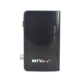 Wholesale External Tv Receiver - 2016 New External HD LCD CRT VGA External TV Tuner MTV Box PC BOX Receiver Tuner HD 1080PTV Box AV To VGA With Remote Control