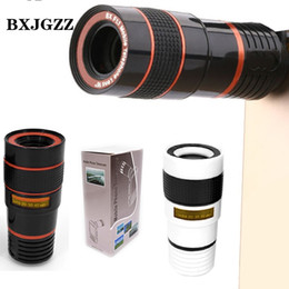 Wholesale Telephoto Universal 12x - Universal Clip 8X 12X Zoom Mobile Phone Telescope Lens Telephoto External Smartphone Camera Lens for iPhone For Sumsung For Huawei