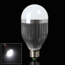 Wholesale E27 Uv Light - E27 9W Pure White LED Ball Light with Low Energy Consumption No UV NO IR Radiation LED_036