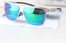 Wholesale sunglasses ultralight - HOT sale new IC!berlin sunglasses ultralight frame 8colors without screws ruckblick pilot frame men brand designer sunglasses