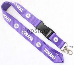 Wholesale Yamaha Chain - YAMAHA motorcycle Lanyard Keychain Key Chain ID Badge cell phone holder Neck Strap five kinds of color. free shipping