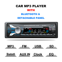 Wholesale Detachable Panel Car Radio - Registered 12V Car-styling Bluetooth USB MP3 Audio Player 1Din In-dash Car FM Stereo Radio Aux In Receiver Detachable Panel