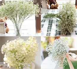 vasi da tavola di fiori artificiali Sconti 30pcs bastone in un vaso di Gypsophila fiori artificiali fiori da tavola falso Babysbreath fiori di seta pianta casa decorazione di cerimonia nuziale