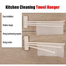 Wholesale Bathroom Hangers Towels - 16 Inch Wall-Mounted Resin Plastic Swivel Bars Bathroom Towel Rack Hanger Duster Holder Organizer (2 Arm). Kitchen Shower Room Cleaner.