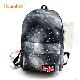 Wholesale Galaxy Pattern Backpack - Wholesale- New Design 2016 Hot Sale Galaxy Pattern Unisex Travel Backpack Canvas Leisure Bags School Bag3 Sep01