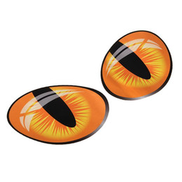 Wholesale Reflective Graphics - Pair 3D Funny Reflective Cat Eyes Car Stickers Truck Head Engine Rearview Mirror Window Cover Door Decal Graphics 10 x 8cm