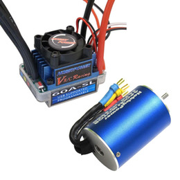 Wholesale Brushless Car Speed Controller - HP 60A ESC Brushless Speed Controller + 3650 5200KV Motor for 1 10 1 12 RC Car