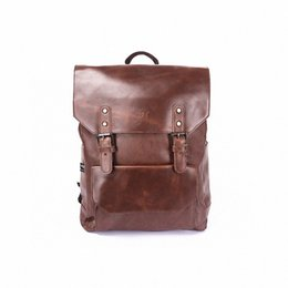 Wholesale High Quality Leather Notebooks - Wholesale- Computer Notebook Backpack Men Brand Men's pu leather Backpack school bag Designer Travel Business Backpack High Quality LI-806