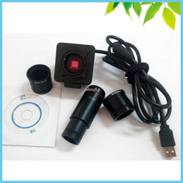 Wholesale Electronic Inspection Camera - Freeshipping 5MP Biological Stereo Microscope Electronic Eyepiece USB Video CMOS Camera Industrial Eyepiece Camera with 0.5X C Mount
