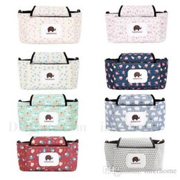 Wholesale Diapers Hang Bag - Printed Diaper Bag Mummy Reusable Printed Wet Bags Outdoor Dotted Stylish Patterns Washable Travel Storage Bag Baby Stroller Hang Bags H533