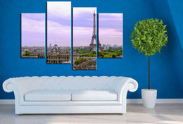 Wholesale Paris Painting Canvas - Chinese oil painting canvas Resim Tuval write four dream Paris, modern canvas wall art print home decoration painting life