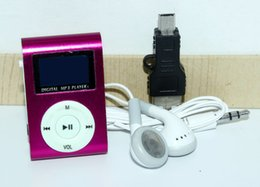 Wholesale Mp3 32 Gb - 2017 High quality Mini Metal Clip MP3 Player LCD card slot support 32 gb micro sd tf digital music mp3 player Wholesale