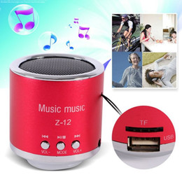 Wholesale Computer Multimedia Speakers - Mini Speaker Z-12 FM Radio Z12 Portable Speakers USB Micro SD TF Card Mp3 Computer subwoofer Multimedia Z 12 Music box