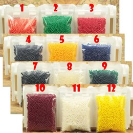 crystal mud free Promo Codes - Wholesale- 400 Particles  lot water beads Pearl shaped Crystal Soil Water Beads Mud Grow Magic Jelly balls wedding Home Decor free shipping