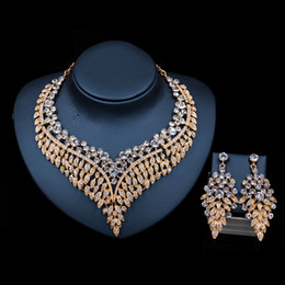 Wholesale african christmas decorations - 2017 wholesale price Behemnia Gold plated decoration african beads necklace and earring for brial jewelry set party or wedding free shipping