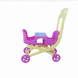Wholesale Trolley Car Toys - Doll's Mini Double Seat Trolley Car Dollhouse Decor Furniture Chair Play House Party For Dolls Accessories Best Gift Girls Toys