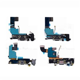 Wholesale Iphone 4s Charging Dock - USB Dock Connector Charging Port Flex Cable for iPhone 4 4s 5 5s 5c 6 Plus USB Charger Plug Flex Cable Repair Parts