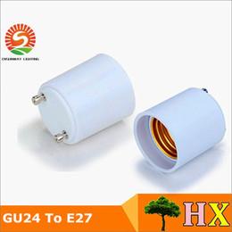 conversor led bulb Desconto Em estoque!! GU24 para E26 GU24 para E27 Suporte da Lâmpada Converter Base de Soquete Adaptador de Lâmpada Material À Prova de Fogo LED Conversor Adaptador de Luz