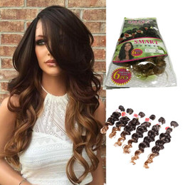Wholesale Bulk Curly Hair Extensions - New style hair loose weave jerry curl bundles synthetic braiding hair extension ombre purple peruvian synthetic hair bulk