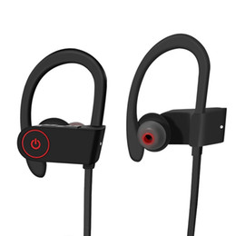 Wholesale Iphone Sound Bluetooth - Sports Wireless Headphones Sweatproof Sports Hd Stereo Sound Quality Bluetooth Earbuds Bluetooth 4.1 Headset With Ear hook Noise Cancelling