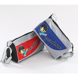 Wholesale Taekwondo Bags - Good quality Adult  kids Taekwondo Bag Taekwondo Protective Bag Equipment Package Protective Bag Blue Red Color