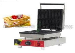 Wholesale Popular snack equipment commercial cast iron V electric mini square belgian waffle maker waffle machine with CE MYY