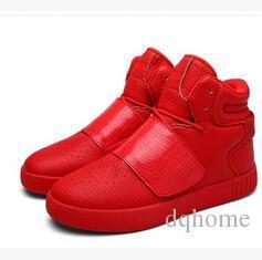botas de invierno para hombres Rebajas Nuevo estilo Otoño Invierno Hombres Blanco Negro Rojo Martin Botas Cálido Englon Estilo Adolescente Botas de cuña para exteriores Botines de ocio