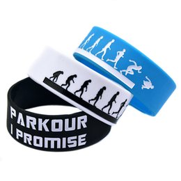 Wholesale I Promise - Wholesale Shipping 50PCS Lot Parkour I Promised Silicone Wristband Bracelet, Perfect To Use In Any Benefits Gift