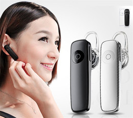 Wholesale Handfree Stereo - M165 Universal Wireless Stereo Bluetooth Headset Earphone Mini Wireless Bluetooth Handfree In-Ear Earbud With Package for iPhone Samsung