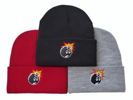 Wholesale Popular Brand Knitted Hats - New Hot Men Pom Beanies Fashion Cheap Hip Hop Beanies Brand Knitted Beanie Hats Popular Wool Warm Winter Caps Sports Ball Team Hats